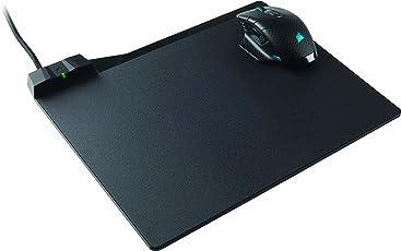 Corsair Dark Core RGB SE Kabellose Optisch Gaming-Maus (mit Qi Wireless Charging, RGB-LED-Beleuchtung, 16.000 DPI) Schwarz + MM1000 Gaming-Mauspad (mit Kabelloser Qi-Ladezone)