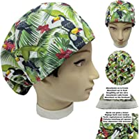 Cappello sala operatoria donna TUCANI per Capelli Lunghi Asciugamano assorbente sulla fronte facilmente regolabile…