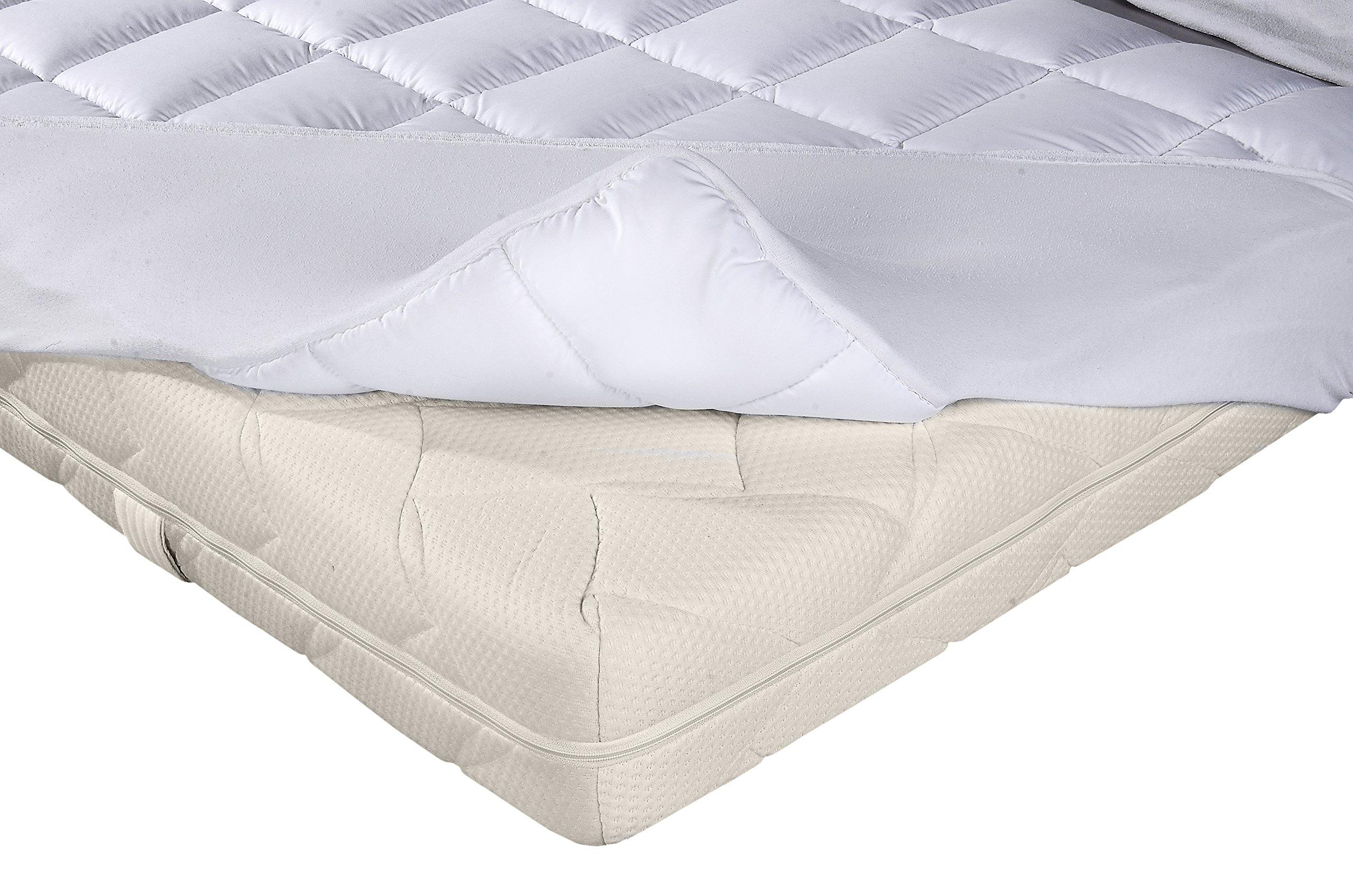 PROCAVE Micro-Comfort Matratzen-Bett-Schoner weiß 60x120 cm mit Spannumrandung | Höhe bis 30cm | Auch für Boxspring…