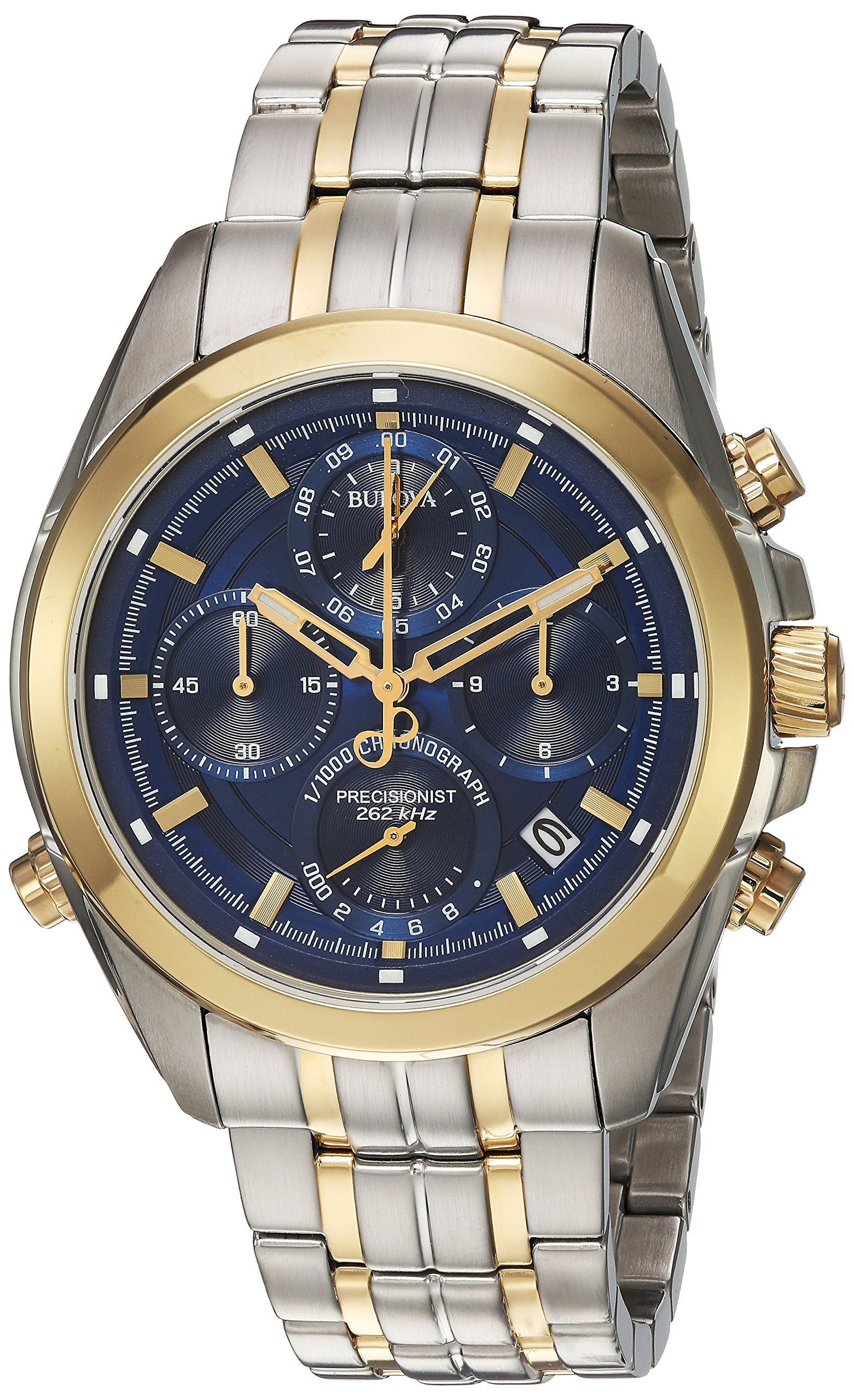 Bulova Mens Chronograph Quartz Watch with Stainless Steel Strap 98B276