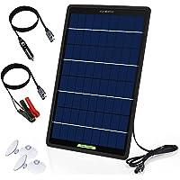 ECO-WORTHY 10W 12V Mainteneur de Batterie de Voiture, Kit Panneau Solaire Portable d'Entretien de Charge avec Allume…