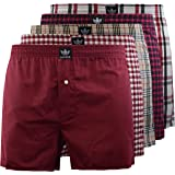Kandor Boxer Shorts Men (Pack Of 5), Cotton Mens Boxers Shorts Multipack, Underwear Loose Fit Woven Boxers