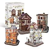 Revell 304 Hogwarts Diagon Alley, vinkelgata med 4 byggnader Harry Potter tillbehör, färg