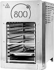 800° Hochleistungsgrill Oberhitzegrill Edelstahl inkl. Grillrost Gastroschale Schutzschublade Piezozündung
