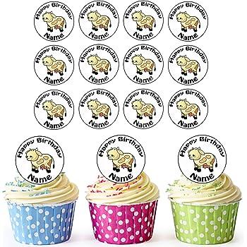 Dessin Anime Pompier 24 Personnalise Comestible Pour Cupcakes