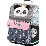Schulranzen Mädchen 1. Klasse - Ergonomische Schultasche für Kinder - Schulrucksack mit Brustgurt - Grundschule Ranzen (Panda