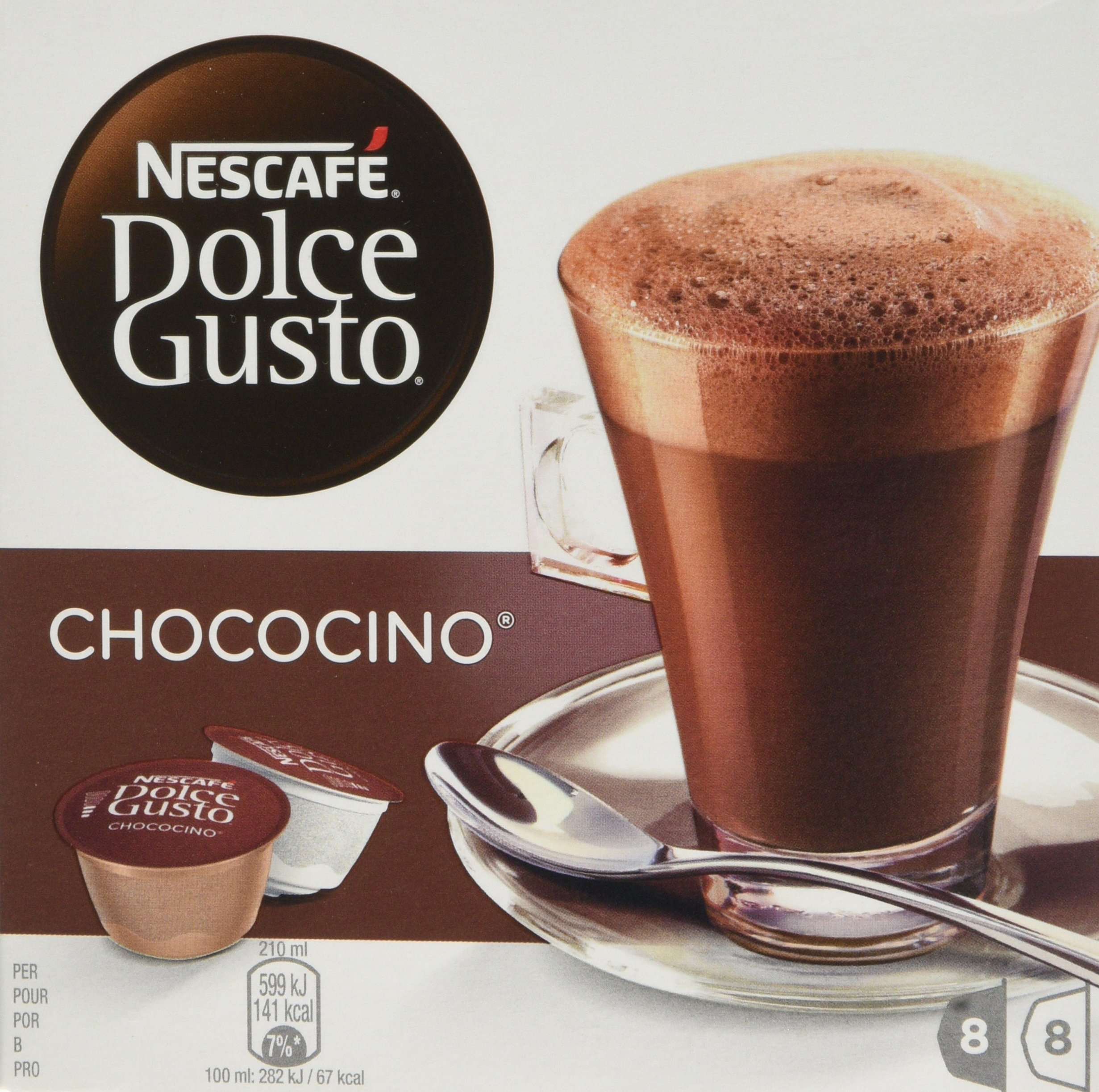 Nescafé Dolce Gusto Chococino coffee pods and capsules (a vanilla coffee with aromas of fresh fruit and petals)
