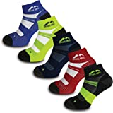 More Mile Endurance Cushioned Running Socks (5 Pair Pack) Anti Blister, Compression Arch Brace Sports Socks, Lightweight & Lo