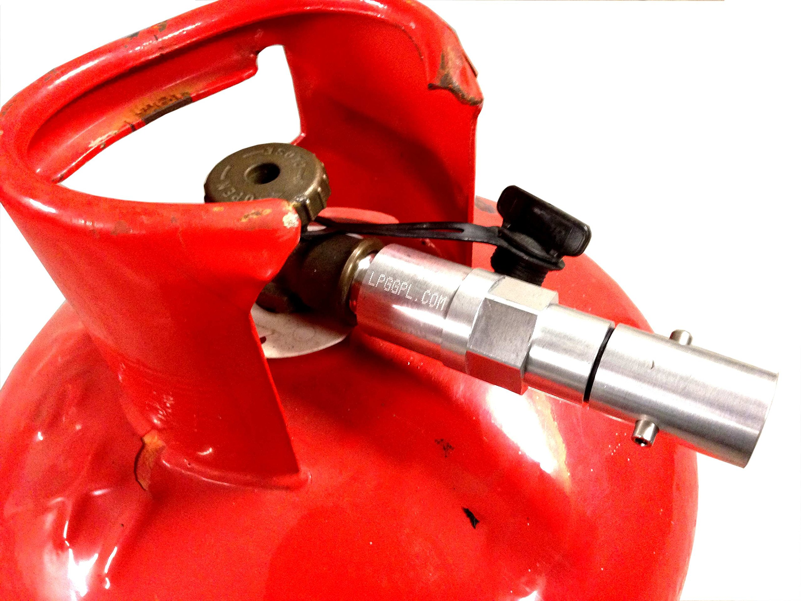 lpg gas bottle filling adaptor REMOTE 2m with non return valve autogas caravans