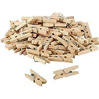 Itenga, lot de 80 mini pinces à linge décoratives en bois de 2,5 cm avec ornement – Dimensions : env. 2,5 cm