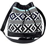ASTRID Women's Sling Bag (Black and Blue)