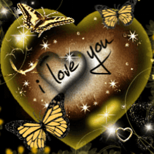 I Love You Heart Butterfly Live Wallpaper Amazon Fr Appstore Pour