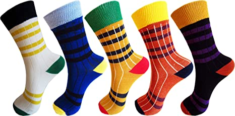RC. ROYAL CLASS Boys and Girls Calf Length Cotton Elegant Multicolored Socks (Pack of 5 Pairs)