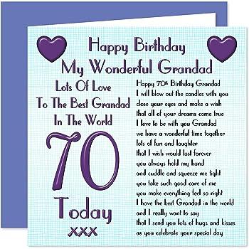 Grandad 70th Happy Birthday Card