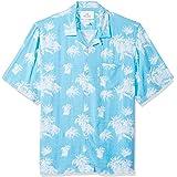 Marchio Amazon - 28 Palms, camicia da uomo, stile vintage lavato, 100% rayon, stile tropicale hawaiano