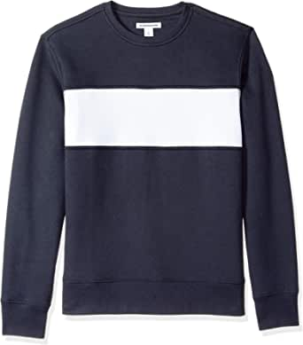 Amazon Essentials - Patterened Crewneck Fleece Sweatshirt, Felpa Uomo