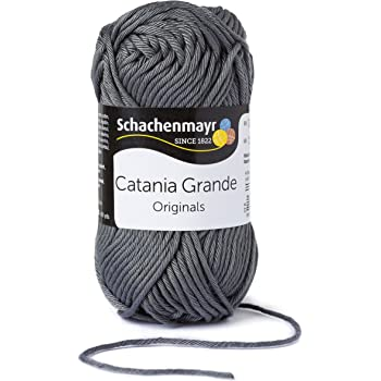 Schachenmayr  Catania Grande 9807331-03242 grau Handstrickgarn, Häkelgarn, Baumwolle