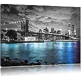 De Horizon van New YorkFoto Canvas   Maat: 120x80 cm   Wanddecoraties   Kunstdruk   Volledig gemonteerd