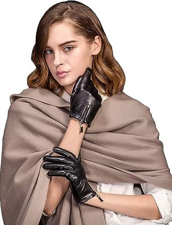 YISEVEN Polsini corti in pelle di agnello touchscreen donna regalo