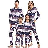 Hawiton Pijamas Navidad para Familias Pijama Mujer Hombre Niños Niña Invierno de Manga Larga Pijama Hombre Navidad Ropa de Do