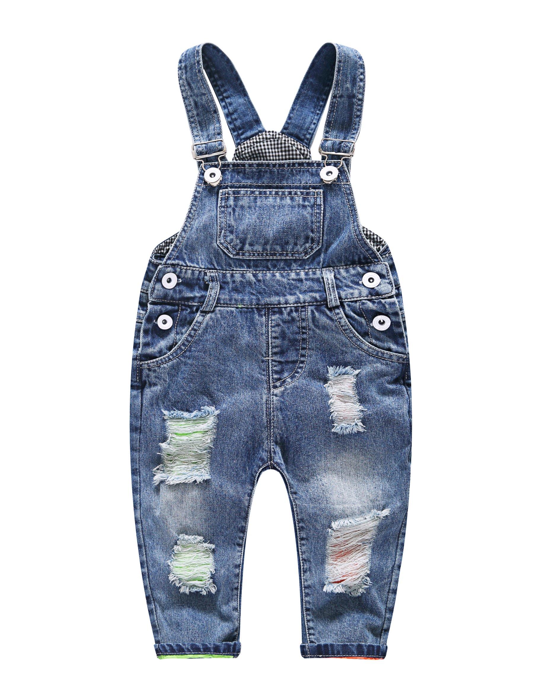 Kidscool Bebé & Pequeños Niños/Niñas Ripped Holes Bibibvans Total 1