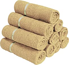 Story@Home 100% Cotton Soft Towel Set of 10 Pieces, 450 GSM - 10 Face Towels - Beige
