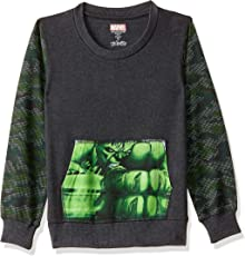 Avengers Kids Boys Anthra Melange Color Sweatshirt