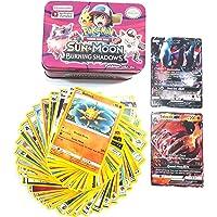 Mohaak Gallery Pokemon Sun and Moon Burning Shawdows Trading Cards Metal Box (Multicolour)
