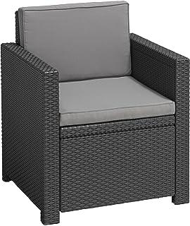 Amazon.de: Keter Lounge Set (Garten) Korfu Triple, graues Lounge Set ...