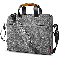 Inateck 17 Zoll Laptoptasche 17.3 Zoll Aktentasche Laptop Hülle mit Griffen Gepäckgurt abnehmbarem Schulterriemen…