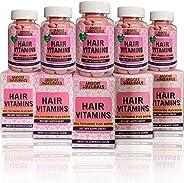 Hair Growth Strengthen Vitamins Sugar chewable Gummy Bear Shape Set of 6
