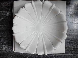 R&M Marble 10 Inch Bowl Pot Tray Bird Bath Garden/Home Decoration