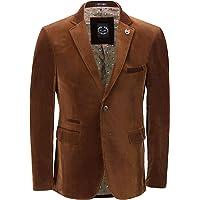 Xposed Mens Soft Corduroy Blazer Coat Vintage Retro Tailored Suit Jacket UK[BLZ-MATTHEW-BROWN-48,Blazer-Brown,Chest UK…