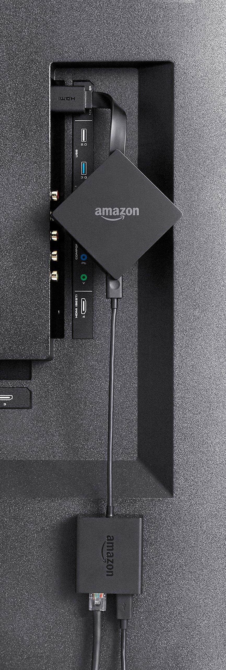 Amazon Ethernetadapter für Fire TV und Fire TV Stick mit Alexa-Sprachfernbedienung (2017 Modelle), Fire TV Stick Basic-Edition und Fire TV Stick 4K