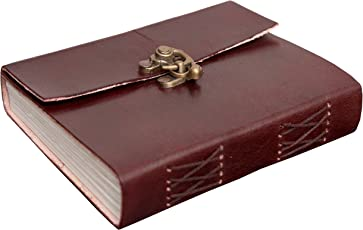 Mangalmurti Handicrafts Genuine Real Vintage Leather Handmade paper Office Notebook Diary For Write Poem Daily Update with Metal Lock