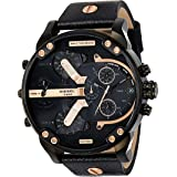 Diesel Mr. Daddy 2.0 Men'S Black Dial Leather Band Chronograph Watch Dz7350, Quartz, Analog