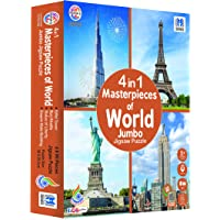 Ratna's 4 in 1 Masterpieces of World Jumbo Jigsaw Puzzle (4 x 99 Pieces) Size 36 x 28.5 cm for Each Puzzle Educational…