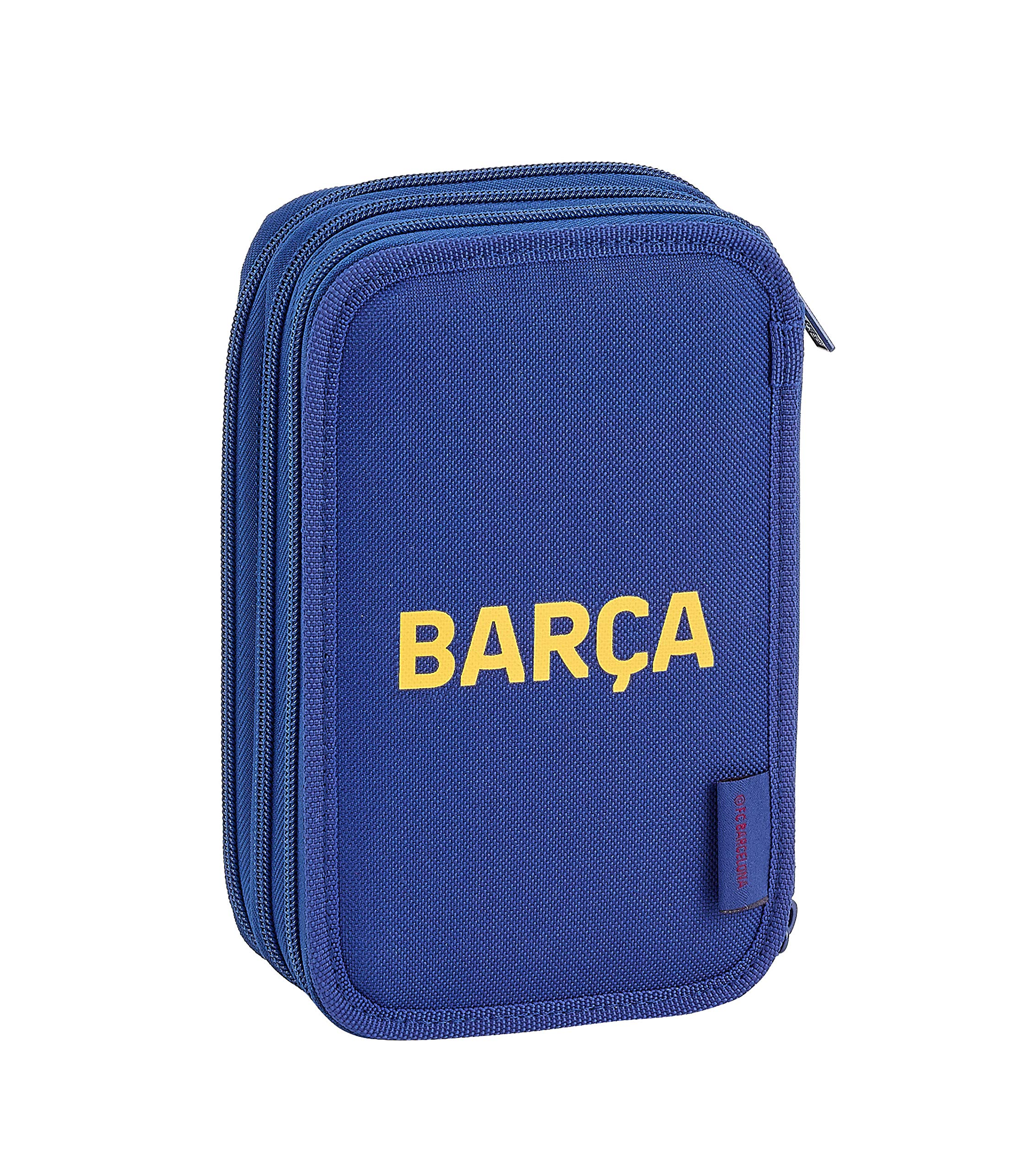 FCB FC Barcelona Estuche, Niños Unisex, Azul Marino, 12.5×20.5×6