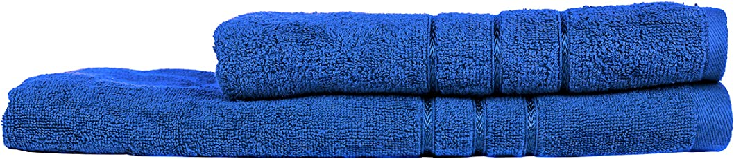 Towel Town Set of 2 Ecospun Bath Towels Blue