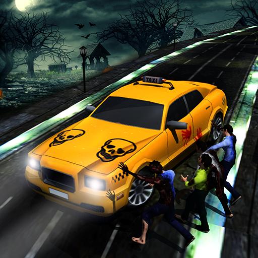 Halloween Nacht Verrückt Taxi Treiber Spiel 2018: Stadt Kabine Fahren Simulator Spiele frei für Kinder