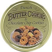 Danish Butter & Chocolate Chip Cookies, dänische Butterkekse, Gebäckmischung Dose, 500g