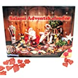 Salami Adventskalender 2020 - 24 Mini Wurst Sterne und Herzen - 40,8 g