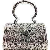 Trend Overseas Women's Clutch (Handle_Silver_10077_Silver)