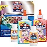 ELMER'S Kit per Slime Metallizzato, include la Colla Vinilica Metallizzata, con Liquido Magico Attivatore di Slime, 4 Pezzi