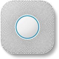 Google Nest Protect 2ème génération Détecteur de fumée + monoxyde de carbone (filaire), blanc