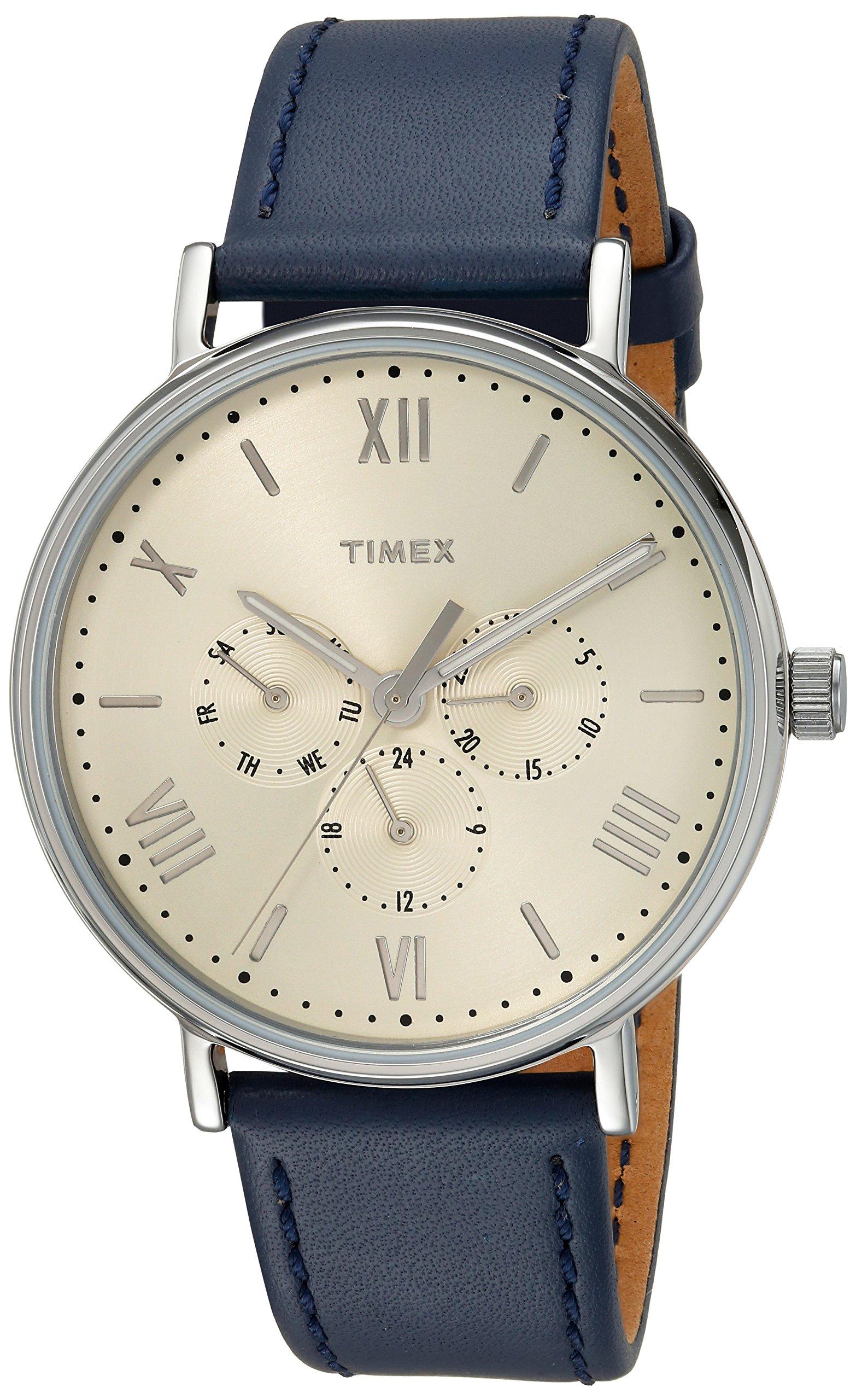 Timex Unisex southview 41mm correa de cuero multifunción reloj