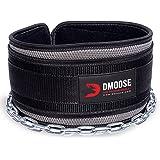 DMoose Fitness Dip Belt met Ketting voor Gewichtheffen, Pullups, Powerlifting, CrossFit en Bodybuilding Workouts, Lange Heavy