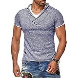 Redbridge by Cipo & Baxx – Camiseta para hombre de corte muy ajustado, camiseta de algodón con cuello en V Melange R-4T1223 (