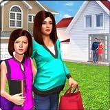 Schwangere Mutter virtuelle Familie Nachbar Helfer
