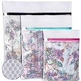 Amazon Brand - Umi Bolsas para la colada de malla de panal para almacenar o lavar delicadas blusas, medias, ropa interior y s